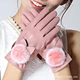 Touch Screen Gloves, Winter Ladies Cashmere Gloves, Warm and Cute Slim Riding Tram Driving Gloves