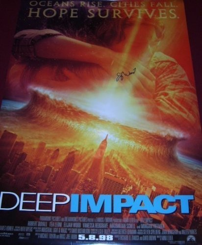 Hornsby Wood - Deep Impact Elijah Wood Signed Autographed Full Size Movie Theatre Poster Loa