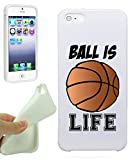 Basketball Ball Is Life Quote Girls Teens IPhone 5 / iPhone 5S Case Cover By NickyPrints. UNIQUE Designer Gloss Candy TPU Flexible Slim Case for iPhone 5 5S
