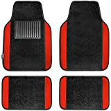 FH Group F14407RED Premium Full Set Carpet Floor Mat (Sedan and SUV with Driver Heel Pad Red)