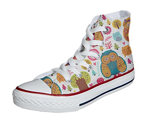 Converse All Star Hi Customized personalisierte Schuhe (Handwerk Schuhe) Autumn Forest