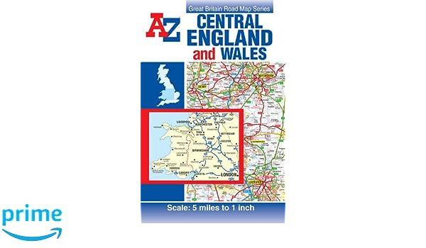 Central England Wales Road Map AZ Road Map Geographers AZ - Az road map
