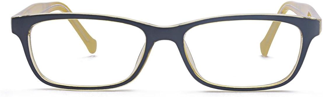 ALWAYSUV Frauen Klare Linse Rechteckig Modische Rahmen mit Streifen-Print Brillenfassung
