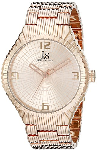 Joshua & Sons Men's JS99RG Rose Gold Quartz Watch with Rose Dial and Rose Gold Bracelet