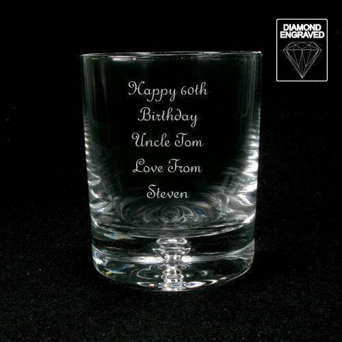 Personalised Whiskey Glass Birthday Gift 18th 21st 30th 40th 50th 60th 70th 80th
