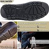 diig Work Boots for Men, Steel Toe Waterproof