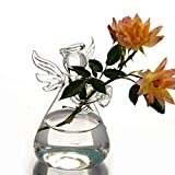 Pulison Flower Vases Creative Hydroponic Transparent Hydroponic Transparent Coffee Shop Room Decor Clear Hanging Glass Vase Flower Plants Terrarium Vase Container DIY Wedding Home Decoration
