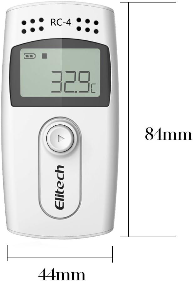 16000 Puntos con Sensor Externo ✩Garant/ía de 12 meses✩ Elitech RC-4HC Registrador de Datos de Temperatura y Humedad