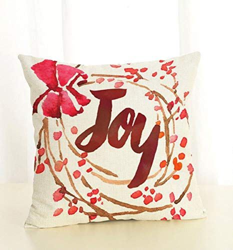 Dozili Joy Christmas Pillow Red Christmas Pillow Berry Pillow Pillow