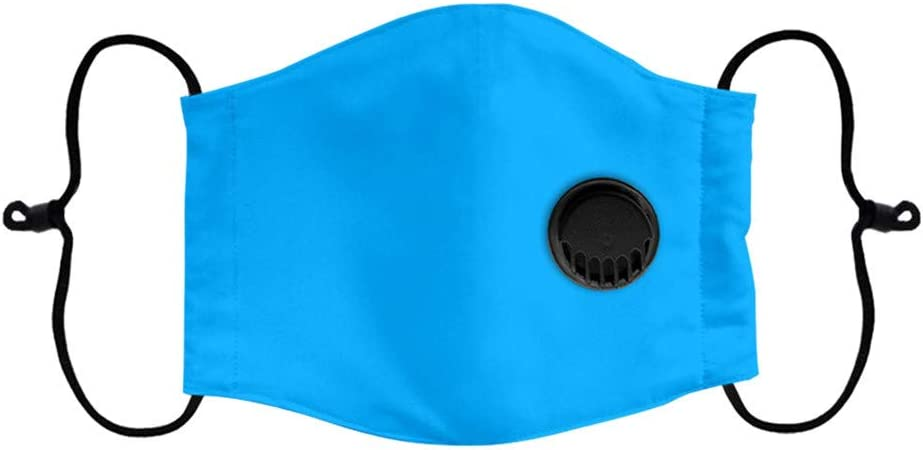 Tuscom Kids Face Bandanas with Breathing Valve Baby 1PC Reusable Dustproof Replaceable Haze Dust Mouth Shields for Children Black