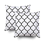 ROOLAYS Decorative Throw Square Pillow Case Cover 20X20Inch,Cotton Cushion Covers Decorative geometric pattern/quatrefoil Both Sides Printing Invisible Zipper Home Sofa Decor Sets 2 PCS Pillowcase