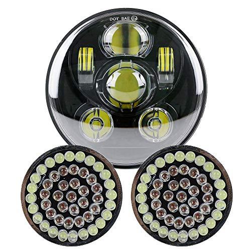 - 5-3/4 5.75 inch Led Headlight Driving Light (Black) +2