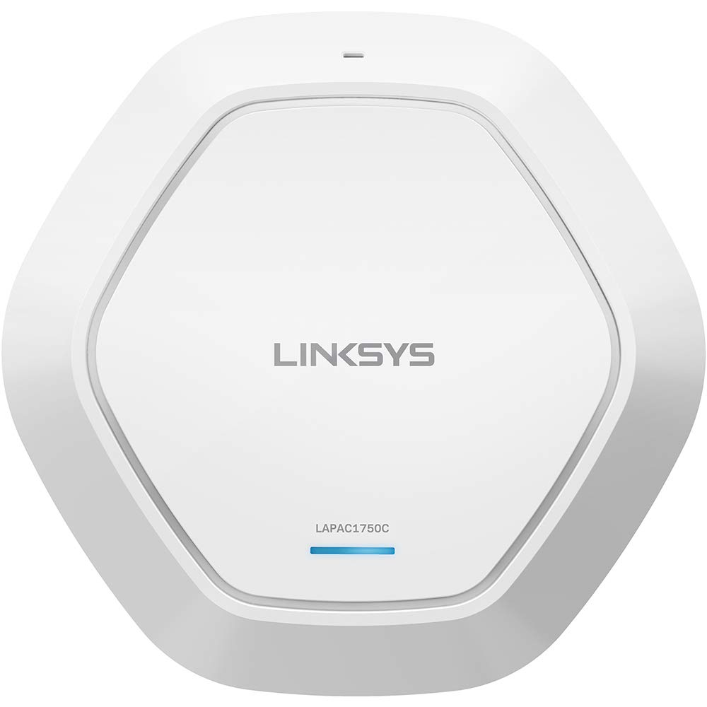 Linksys Business AC1750 Wifi Cloud Managed Access Point with Remote Centralized Management & Real-time Insights on Network Activity, 802.11ac, PoE (LAPAC1750C)