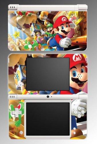 New Super Mario Bros 2 Galaxy Luigi Yoshi Princess Bowser Video Game Vinyl Decal Cover Skin Protector for Nintendo DSi XL