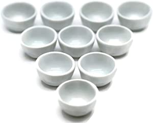 10 White Cearmic Plate Dish Bowl Dollhouse Miniatures Food Kitchen by 1 Shop for You No10
