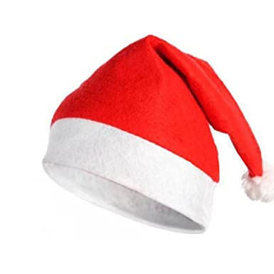 b490db033a018 Miscellaneous Fleece Santa Claus Hat Soft Christmas Hat  Amazon.co.uk   Clothing