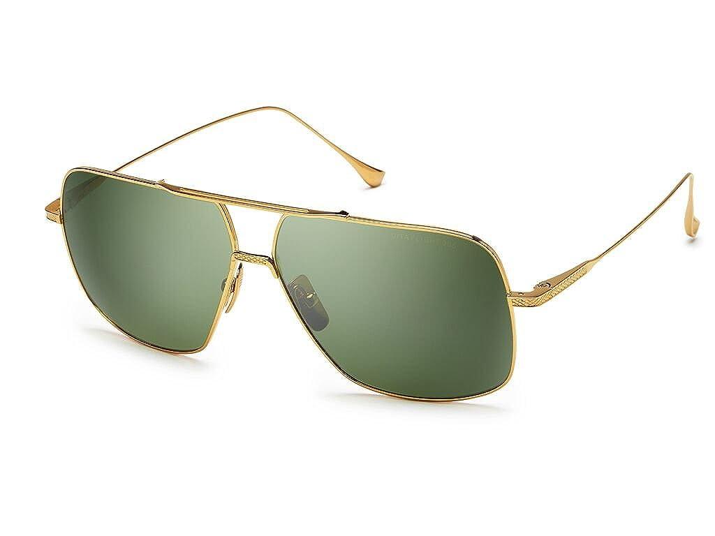 c8fbcd78a7f74 Dita FLIGHT. 005 7805 D-18K 18K Gold-w Vintage Green-Black Flash-AR  Sunglasses at Amazon Men s Clothing store