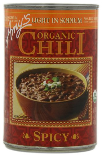 Amy's Organic Chili, Light in Sodium Spicy, 14.7 Ounce (Pack of 12) ()