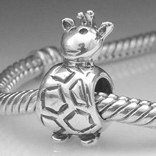 Giraffe Charm Sterling Silver Bracelet product image