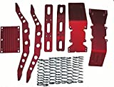 E-Maxx, 3903, 3905 or 3908 red anodized aluminum package super deal with free dual rate shock springs