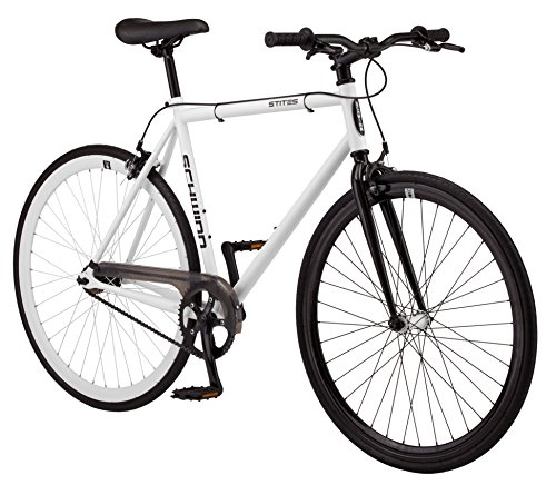 Schwinn Single - Schwinn Stites Fixie 700C Wheel 58cm frame size Bicycle, White