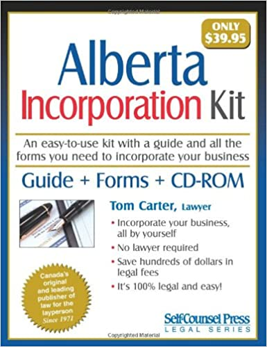 Incorporation kit for alberta tom carter 9781551806198 books incorporation kit for alberta tom carter 9781551806198 books amazon solutioingenieria Choice Image