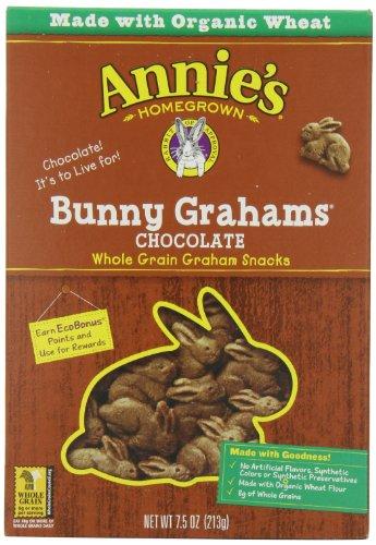 Annie's Bunny Grahams, Chocolate, Graham Snacks, 7.5 oz Box (Pack of 12
