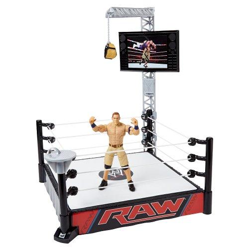 WWE Super Strikers Turnbuckle Takedown Ring with John Cena Figure