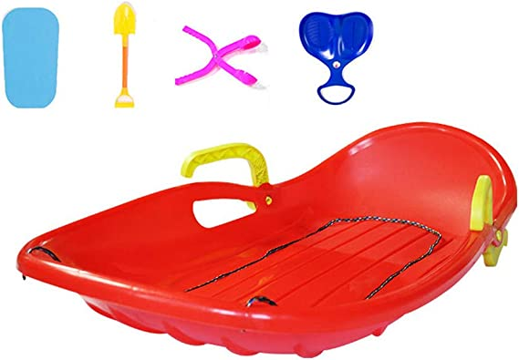 YXIUER Winter Snow Sled, 100cm (39in) Plastic Snow Sledge