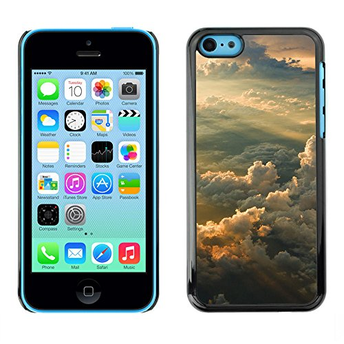 Hard PC Protective Case Smartphone Case Cover for iPhone 5C // Dreamy Sunset Mountains // CooleCell