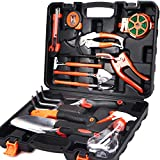 Scuddles SC-GTK-01 Garden Hard Case Tools Set, Black