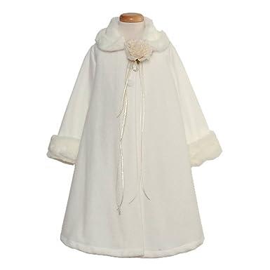 Amazon.com: Kids Dream Ivory Size 12 Fleece Faux Fur Collar Cuff ...