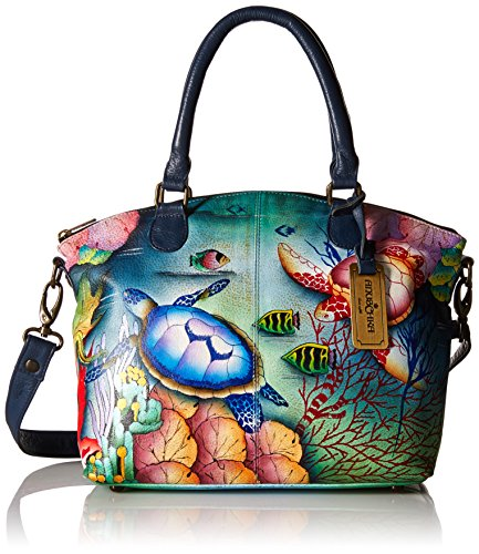 Blu Anuschka Treasures Donna 484 Borsa Free Spalla Unica ocean Taglia A Blue Spirit Multicolore XOwrZqX