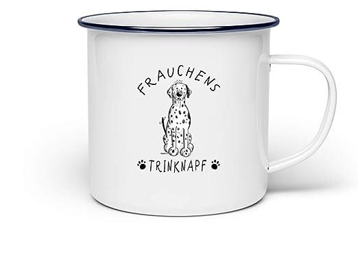 Shirtee Frauchens Trinknapf Dalmatiner Tasse - Emaille Tasse ...