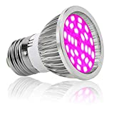 28W 28LED Grow Light Bulb,Led Plant Bulb Full Spectrum Grow Lights for Indoor Plants Vegetables and Seedlings, LED Plant Light Bulb for Hydroponics Indoor Garden Greenhouse and Organic Soil (A-E27)