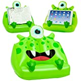 Kids iPad & Book Lap Stand, Inflatable Tablet Holder. Great Reading Rest for Bed, Travel or Study for Children – Green