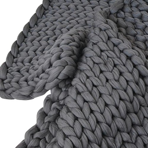 On Sale 100 100cm Arm Knit Blanket Chunky Knitted Throw Arm Knitting