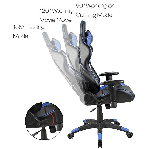 Blue Sword Carbon Fiber Gaming Chair Large Size Racing