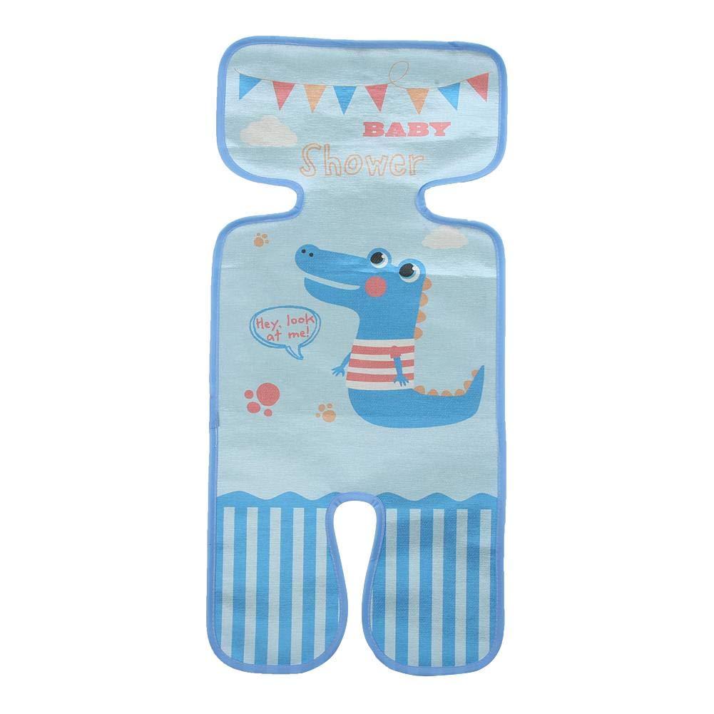 Summer Ice Silk Mat for Stroller Toddler Cool Sleeping Cushion Cartoon Pattern Cart Seat Mat Cover Little Whale