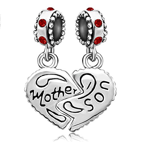 JMQJewelry Heart Mom Love Family Birthstone Mother Son Dangle Sale Cheap New Birthday Charms For Bracelets
