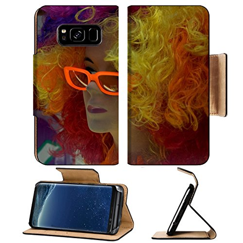Luxlady Premium Samsung Galaxy S8 Plus S8+ Flip Pu Leather Wallet Case IMAGE ID 399227 mannequin with colored hair and - Sunglass Id