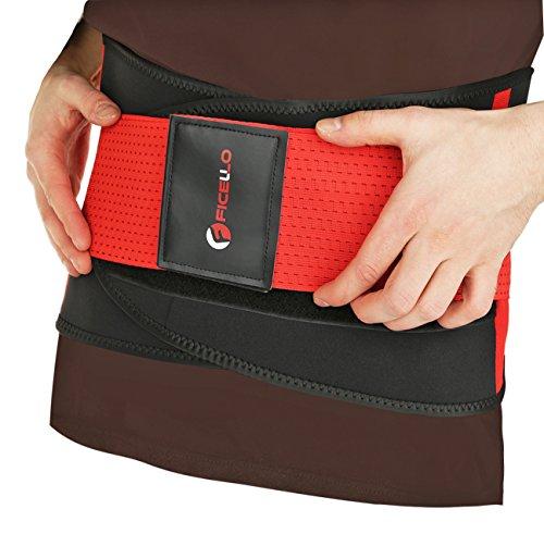 (FICELLO Waist Wrap - Weight Loss Trimmer Belt for Men and Women - Lightweight Neoprene Fabric for Comfortable Fit - Waist Belt for Lower Back and Lumber Support, Sweat Enhancer)
