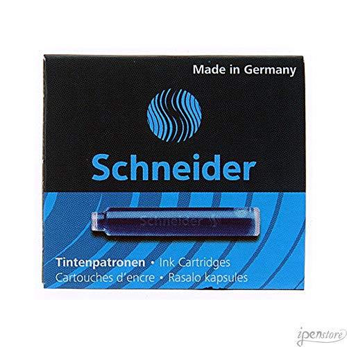 Pk/6 Schneider Fountain Pen Ink Cartridges, Blue