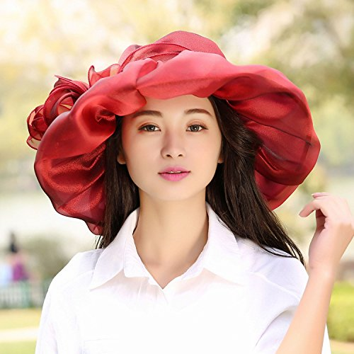 Generic hat cap women girls lady Korean version of the new three-dimensional lace beach sun hat cap large brimmed sun hat cap sun flowers in Europe and America large brimmed hat
