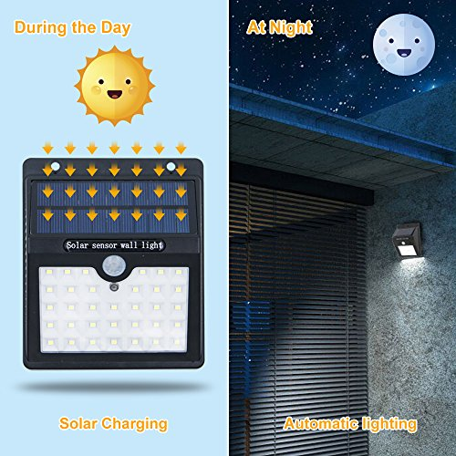 KEYNICE Solar Motion Sensor Lights Outdoor Solar Security Lights with 3 Mode, 33 LED Lights, Waterproof Solar Powered Wall Lights for Outdoor Wall, Back Yard, Fence, Garage, Garden, Driveway by KEYNICE (Image #2)