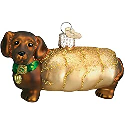 Old World Christmas Wiener Dog Glass Blown Ornament