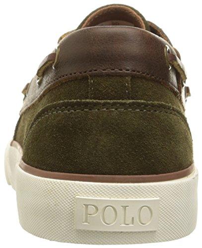 Polo Ralph Lauren Heren Rylander Sport Suede Fashion Sneaker Deep Olive / Tan