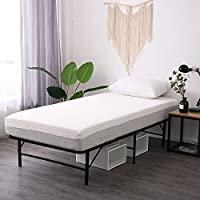 Leisuit Platform Bed Frame Base - Black Finish Bedroom Furniture Mattress Foundation with Storage | No Box Spring | Twin