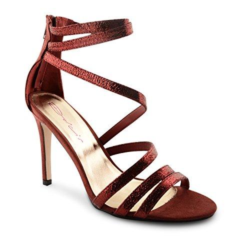 Dolcis - Sandalias de vestir para mujer Rojo - rojo