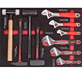 HYLH 10-Piece Adjustable Wrench Hammer Combination Tool Set for Mechanical Repair, Home, car Repair, etc